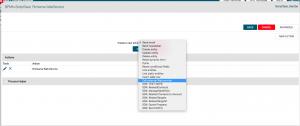 schermata configurazione web service