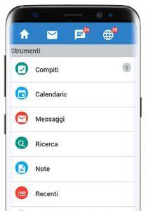 Schermata iniziale App Mobile CRM
