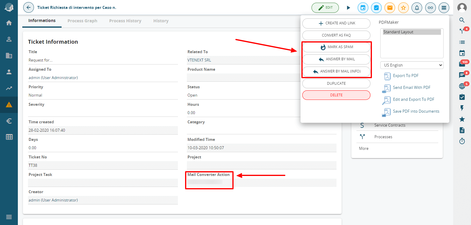 Mail Converter Feature