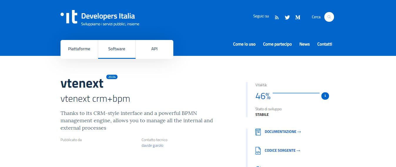 vtenext developers italia